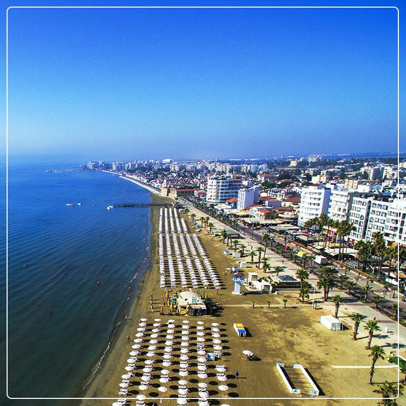 Finiokoudes Beach Larnaca, Cyprus